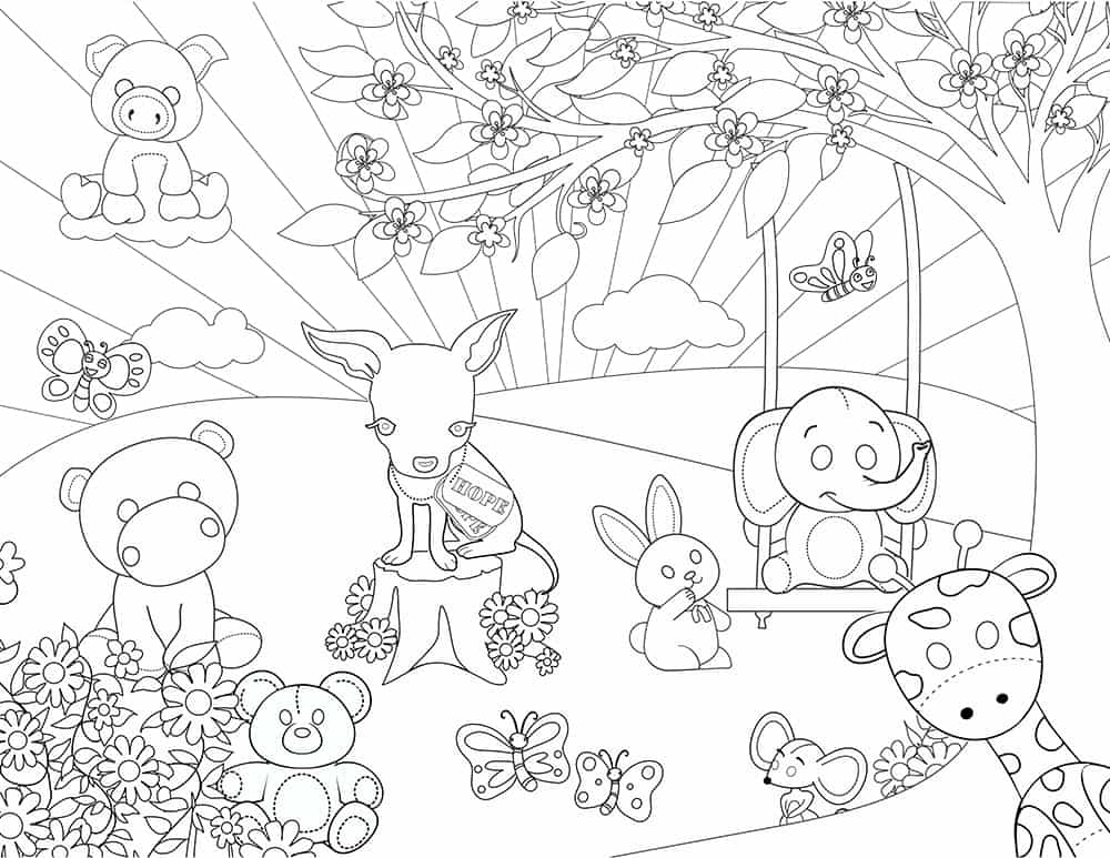 Hope and Friends Coloring Page