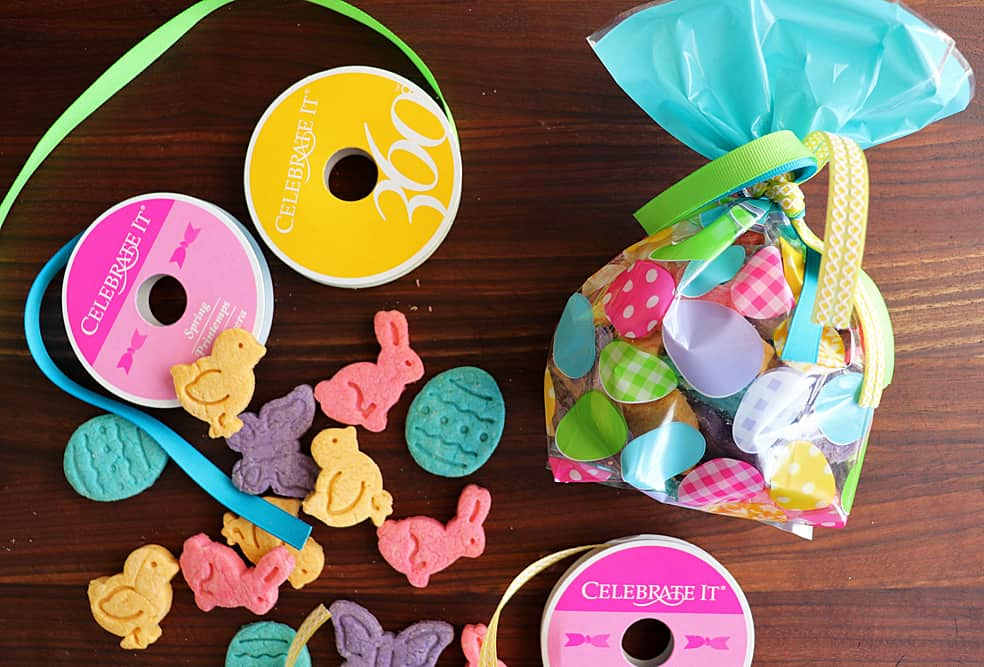 Ribbons and bagged Homemade Easter Dog Treat Recipe