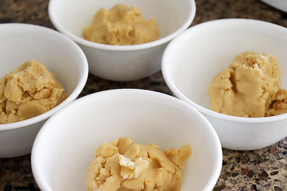 Cookie Dough for Homemade Easter Dog Treat Recipe
